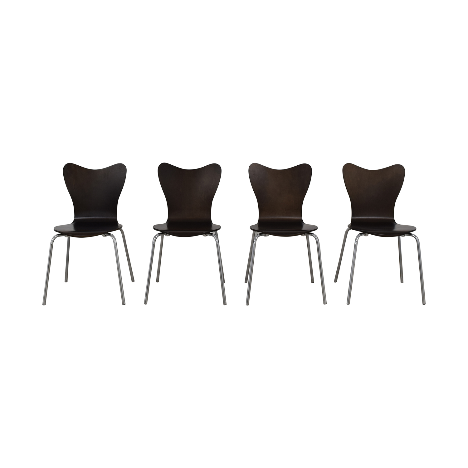 West Elm West Elm Scoop Back Dining Chairs brown
