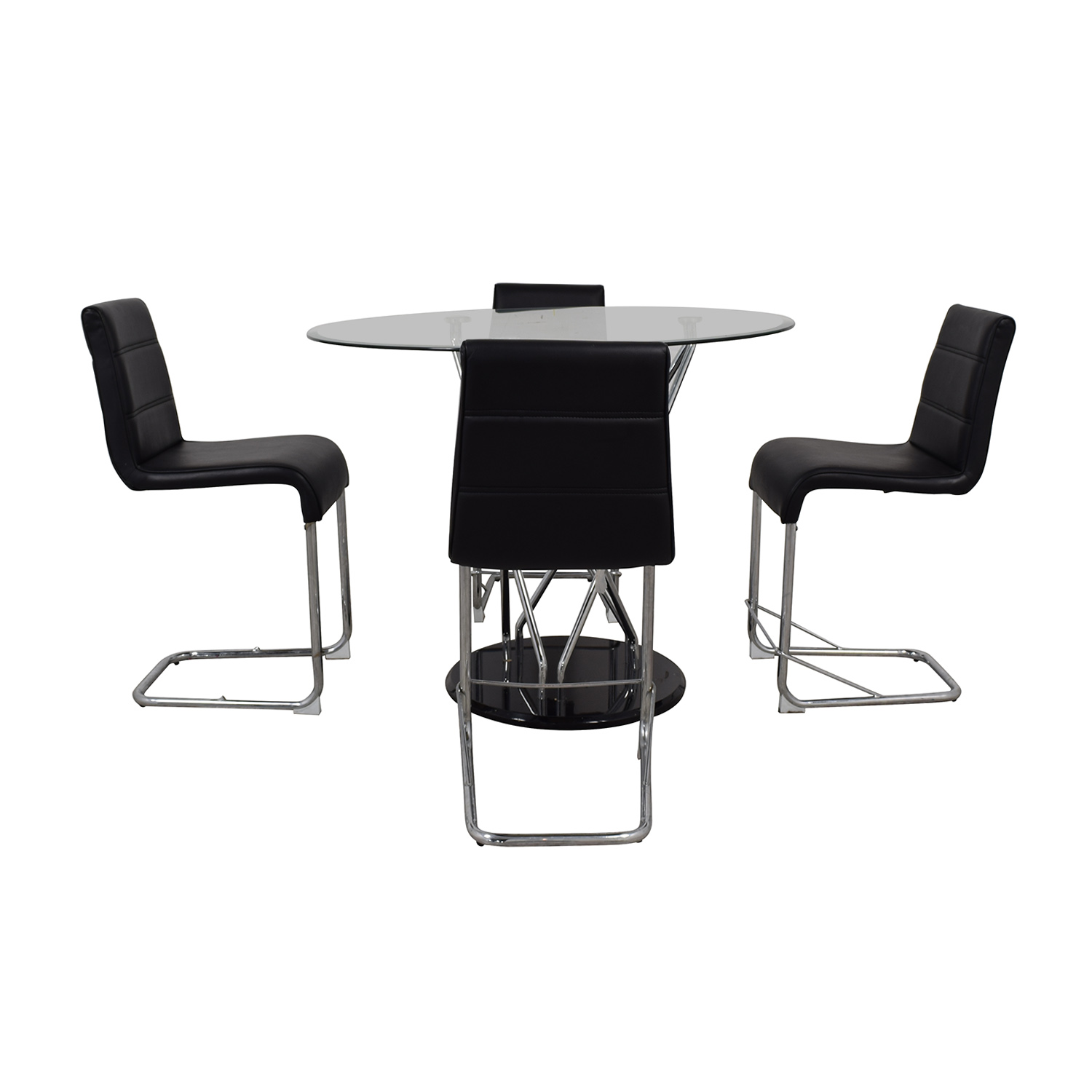 Black and Chrome Dining Set