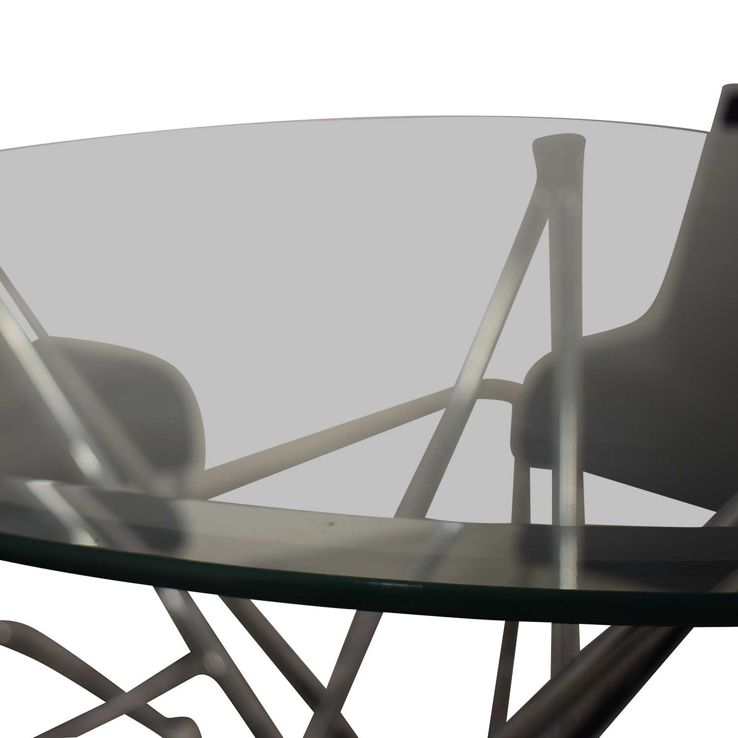 Black and Chrome Dining Set dimensions
