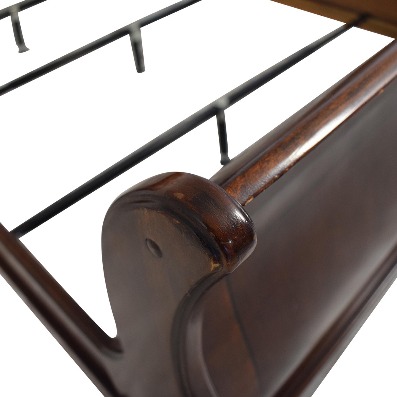 Macy's Macy's Wood Queen Sleigh Bed Frame