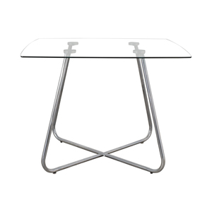 shop Glass And Chrome Dining Table