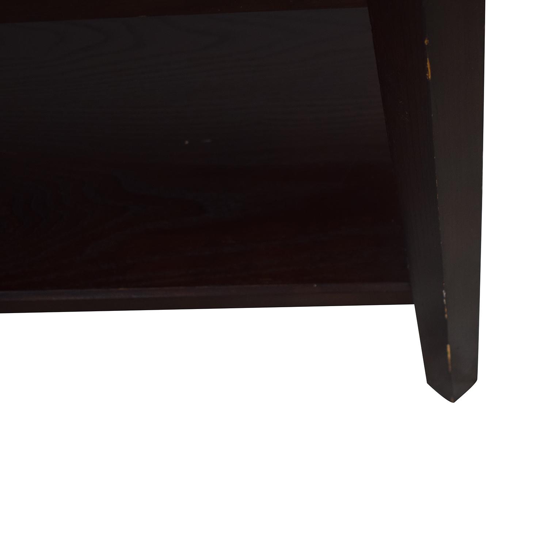 shop Crate & Barrel Wood Credenza Media Table Crate & Barrel