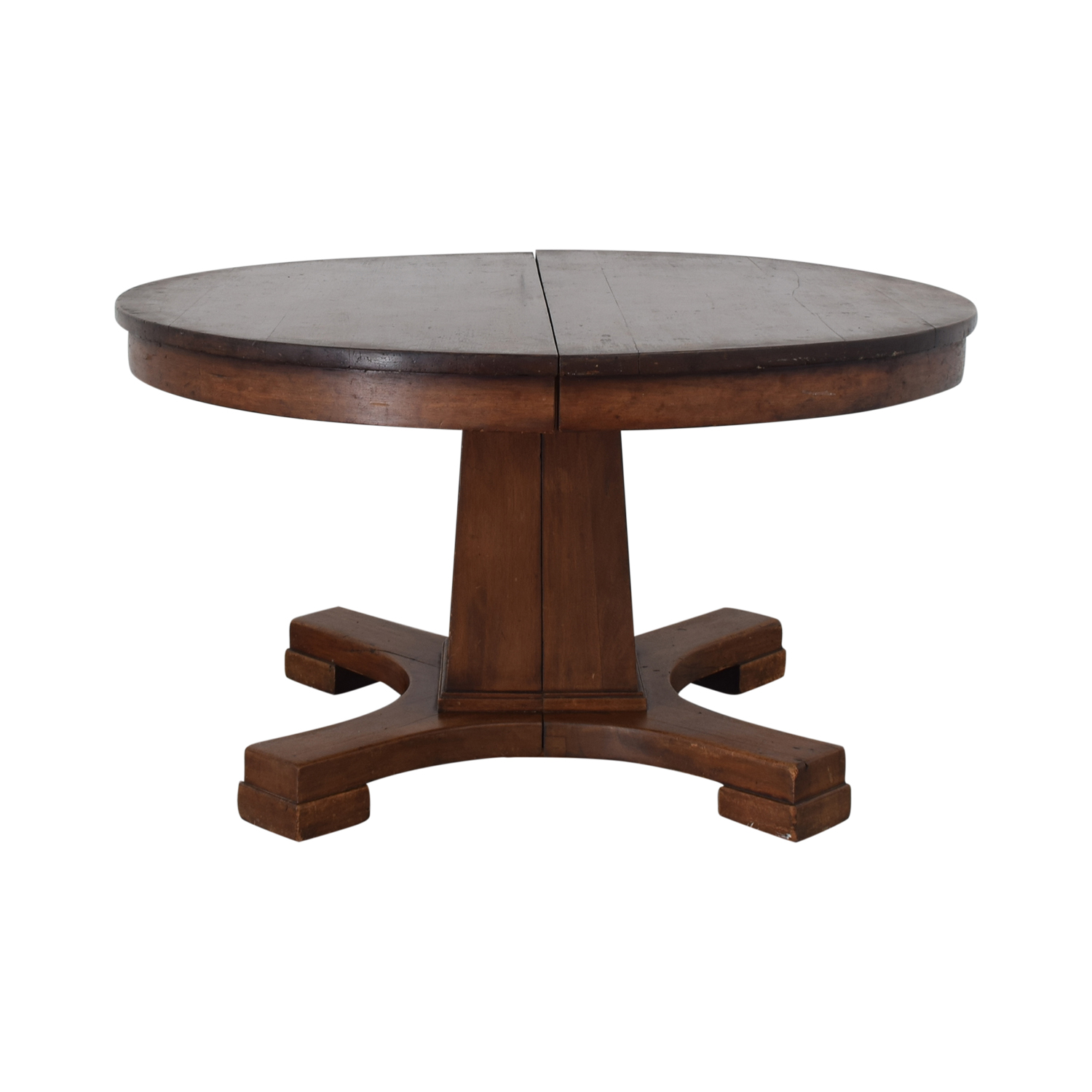 Vintage Round Pedestal Dining Table Dinner Tables