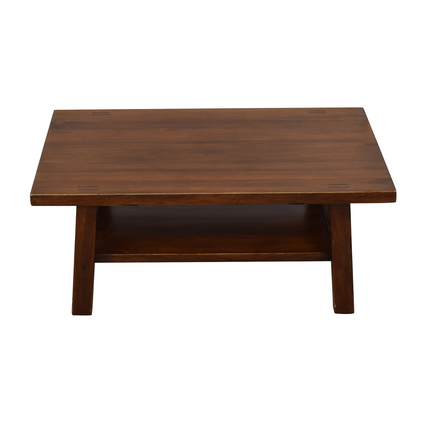 Two Tiered Rectangular Coffee Table brown