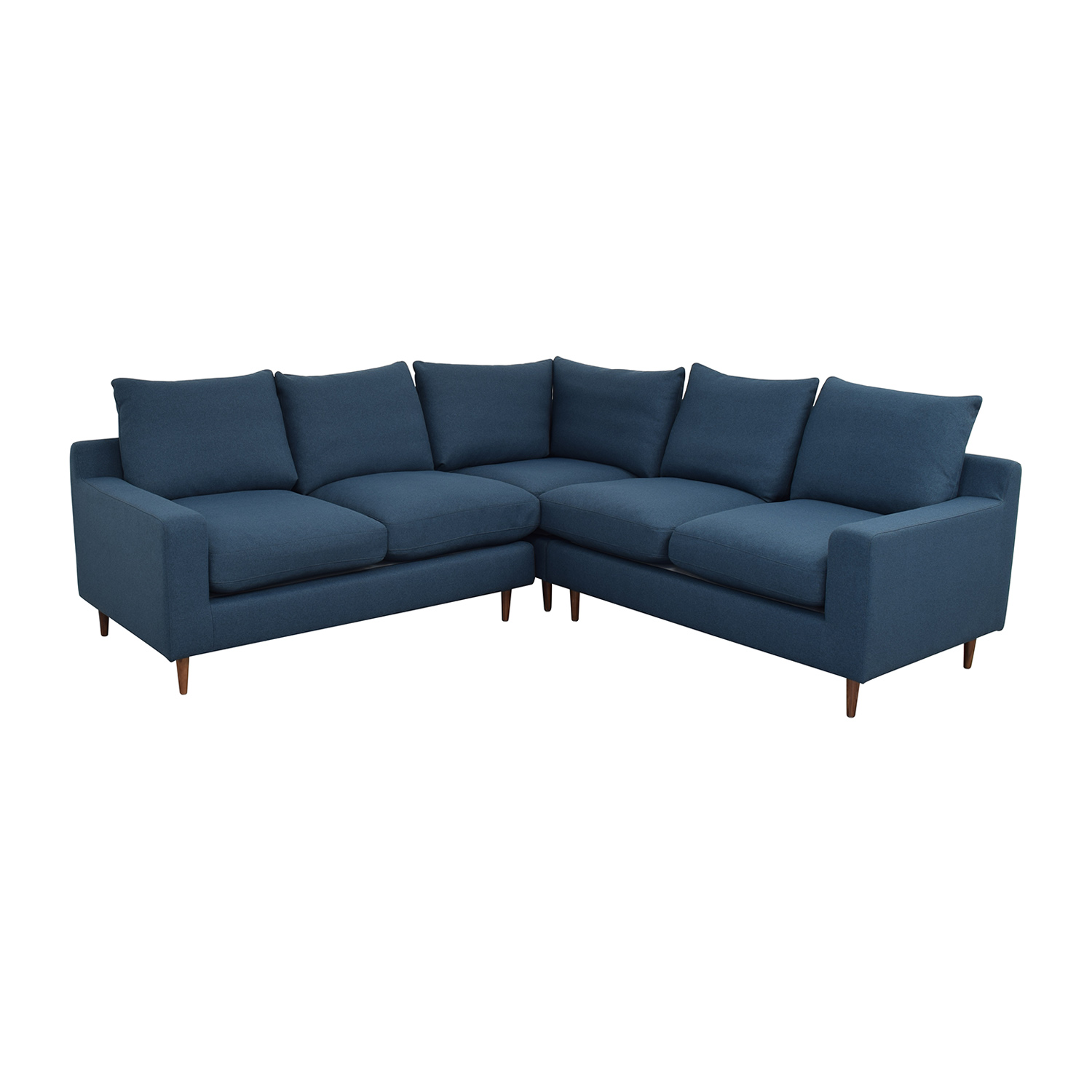Interior Define Sloan Blue L-Shaped Sectional