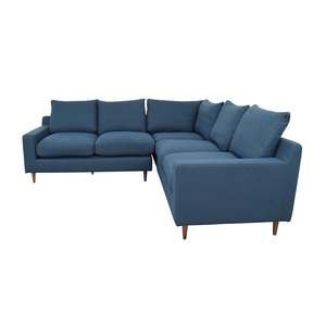 Interior Define Sloan Blue L-Shaped Sectional nj