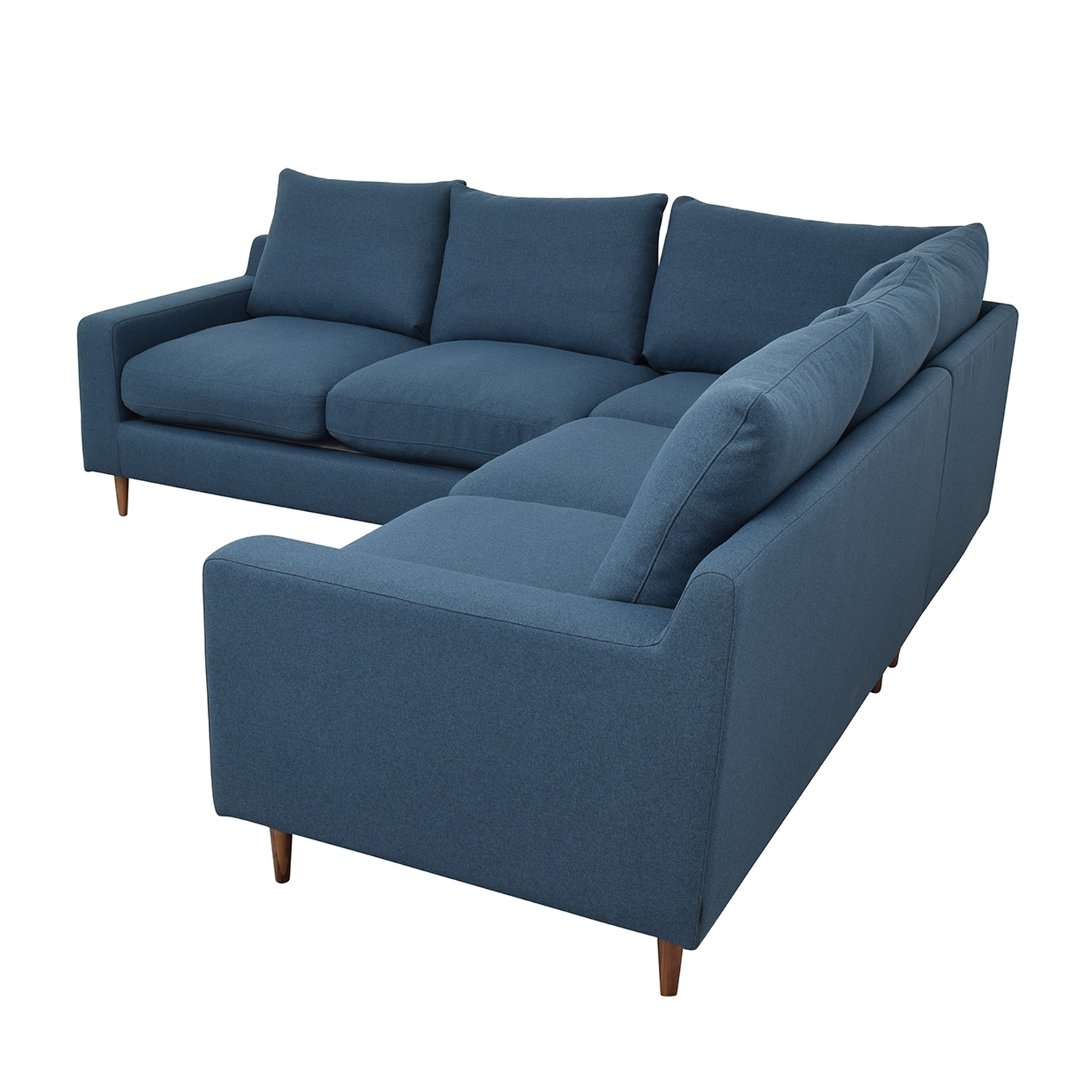 Interior Define Sloan Blue L-Shaped Sectional on sale
