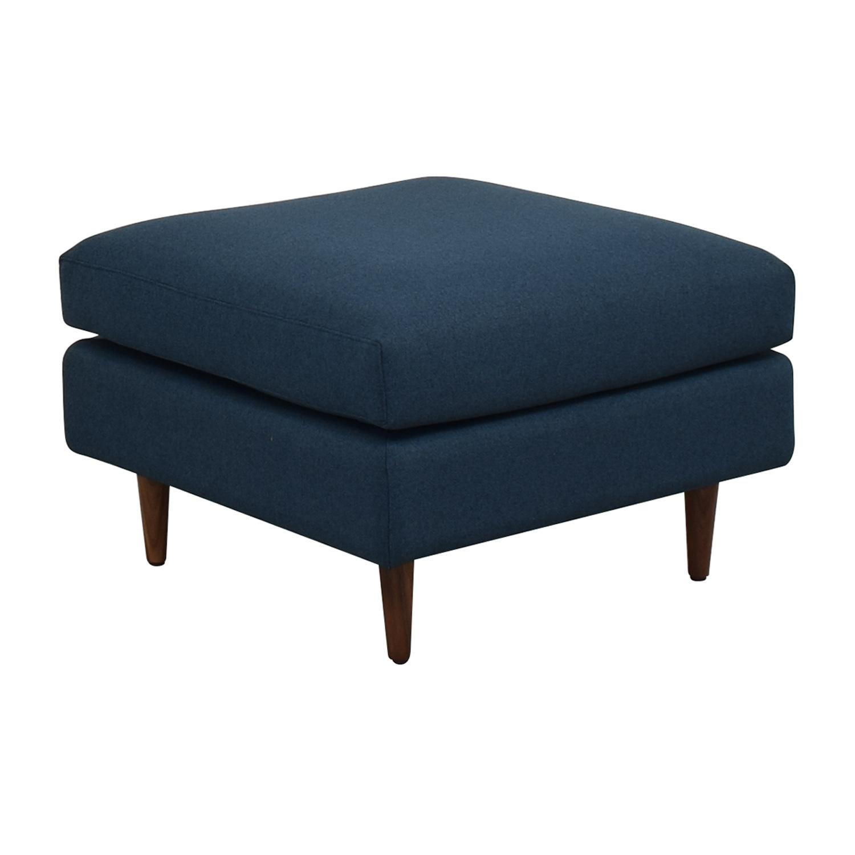 buy Owens Blue Ottoman Interior Define Chairs