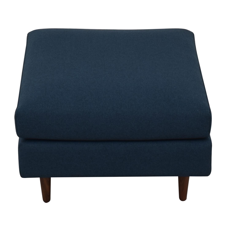 buy Owens Blue Ottoman Interior Define