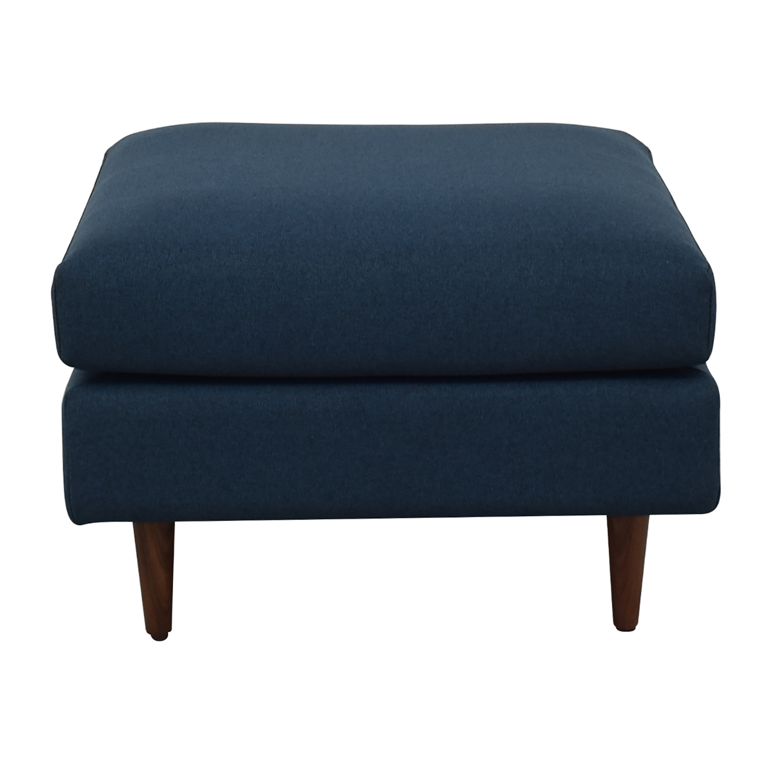 Interior Define Owens Blue Ottoman discount