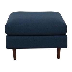 Interior Define Owens Blue Ottoman for sale