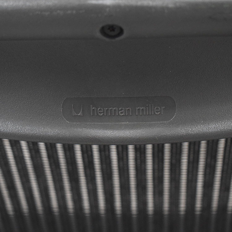 shop Herman Miller Aeron Black Full Mesh Desk Chair Herman Miller Home Office Chairs
