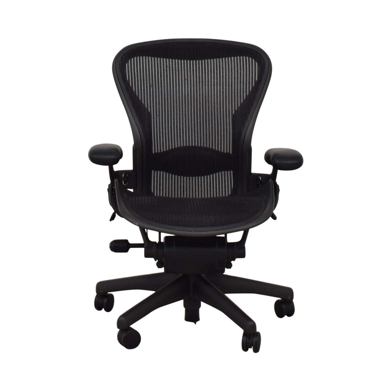 Herman Miller Aeron Black Full Mesh Desk Chair / Chairs