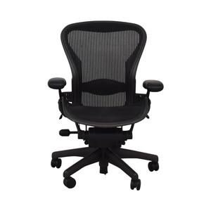 Herman Miller Herman Miller Aeron Size B Black Office Desk Chair nyc