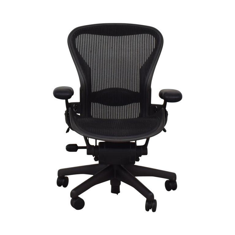 Herman Miller Aeron Black Full Mesh Desk Chair sale