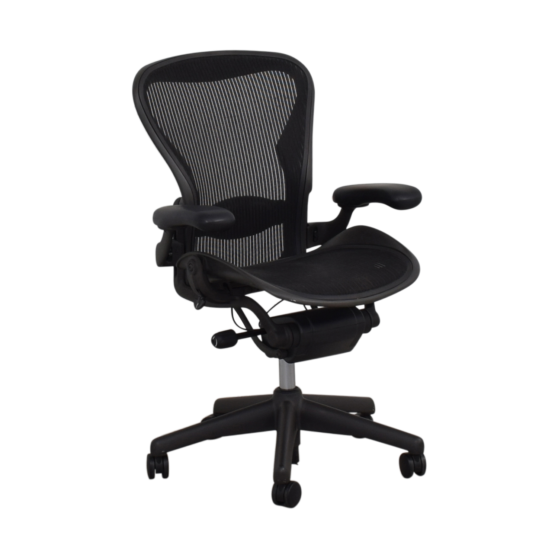 Herman Miller Herman Miller Aeron Black Full Mesh Desk Chair on sale