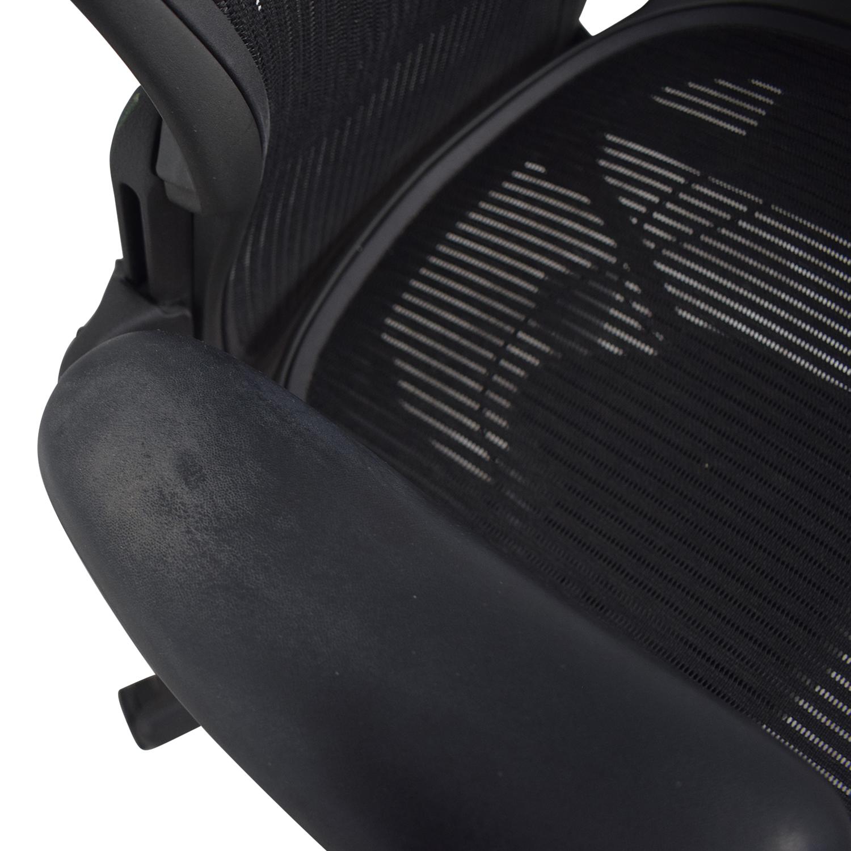 shop Herman Miller Aeron Black Full Mesh Desk Chair Herman Miller