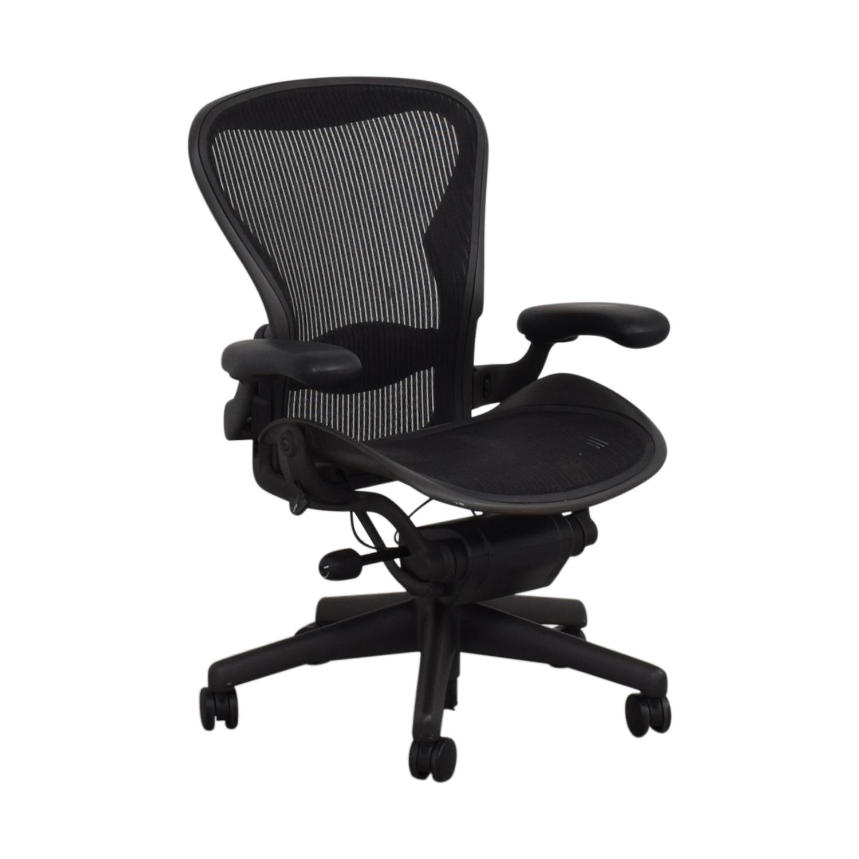 Herman Miller Herman Miller Aeron Black Full Mesh Desk Chair discount