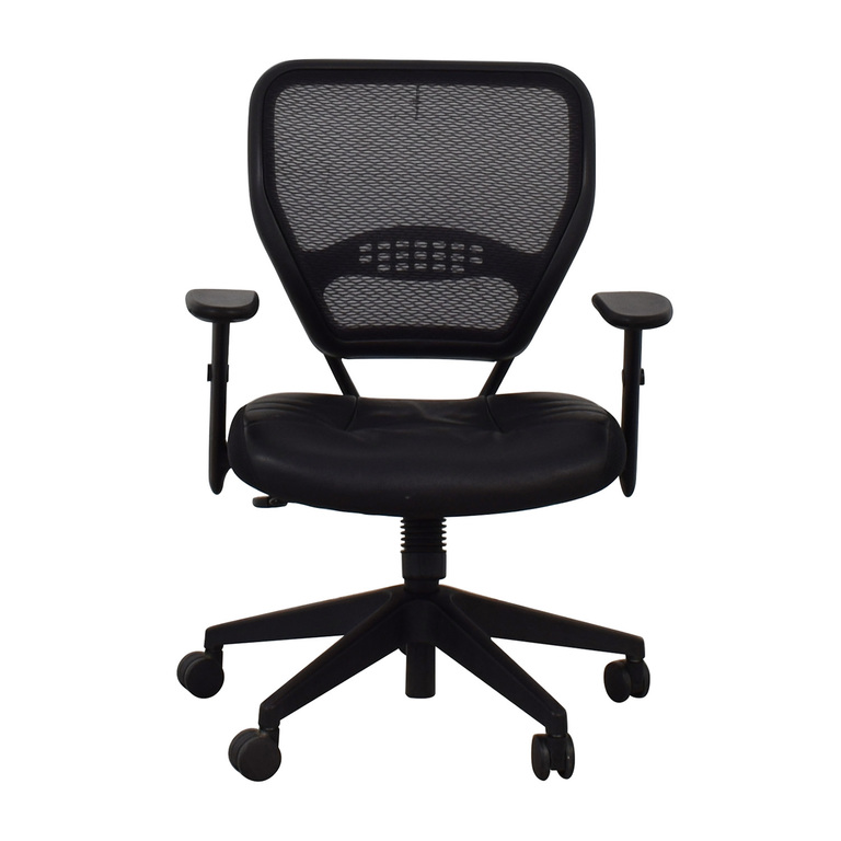 shop Aero Black Mesh Desk Chair None