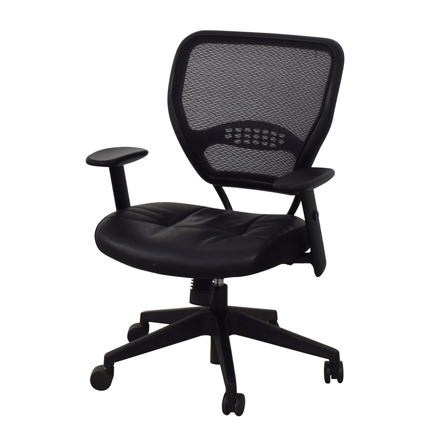 shop Aero Black Mesh Desk Chair Aero