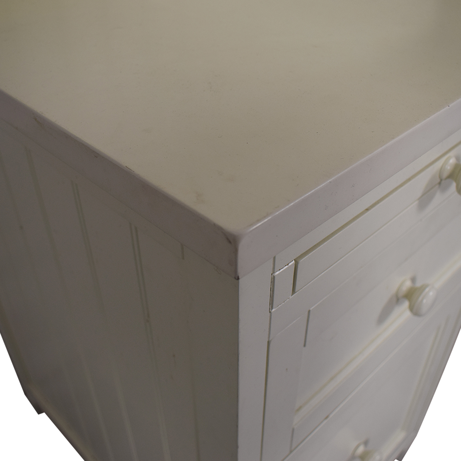 Pottery Barn Teen White Four-Drawer Desk with Hutch Pottery Barn