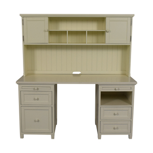 Pottery Barn Pottery Barn Teen White Four-Drawer Desk with Hutch nj