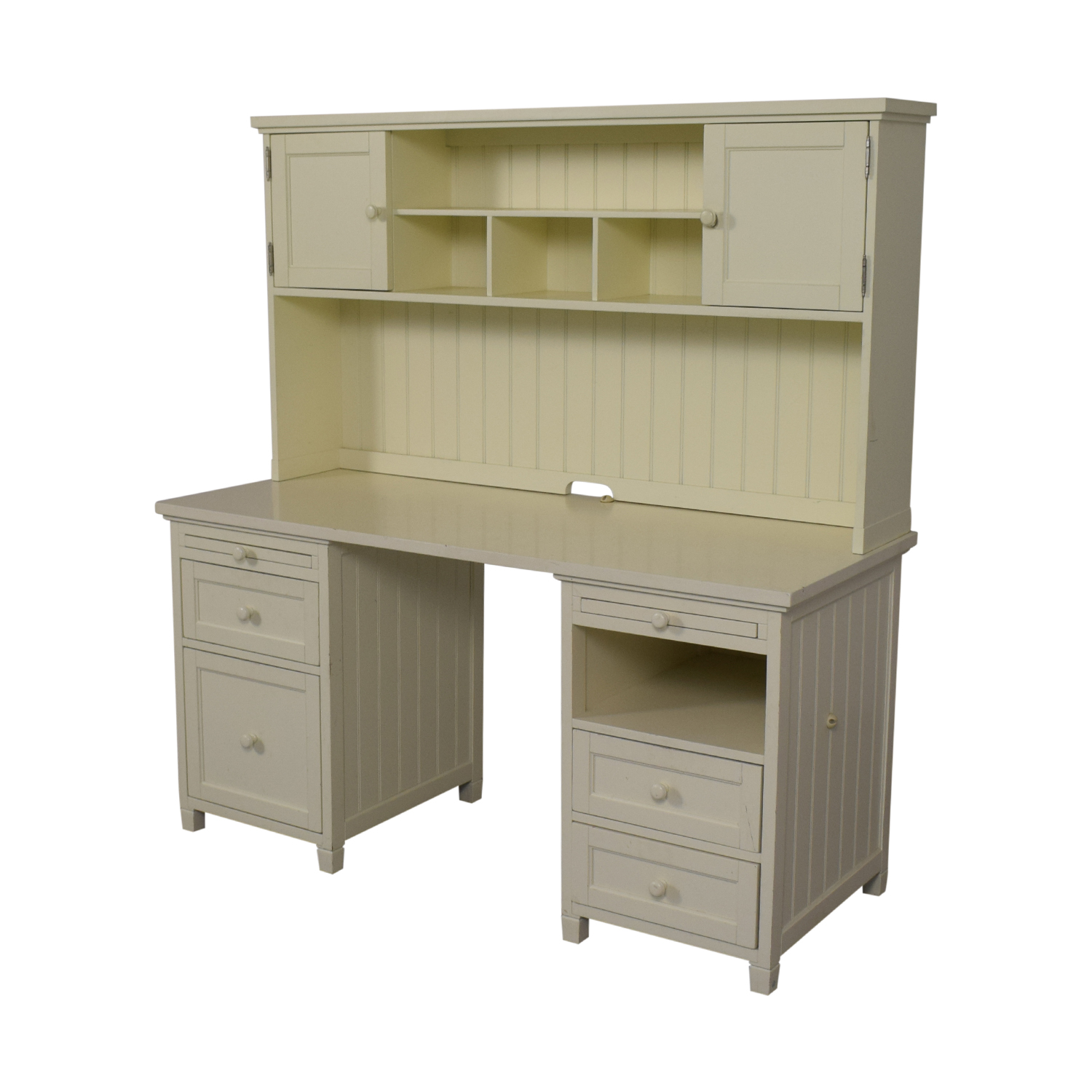 buy Pottery Barn Teen White Four-Drawer Desk with Hutch Pottery Barn