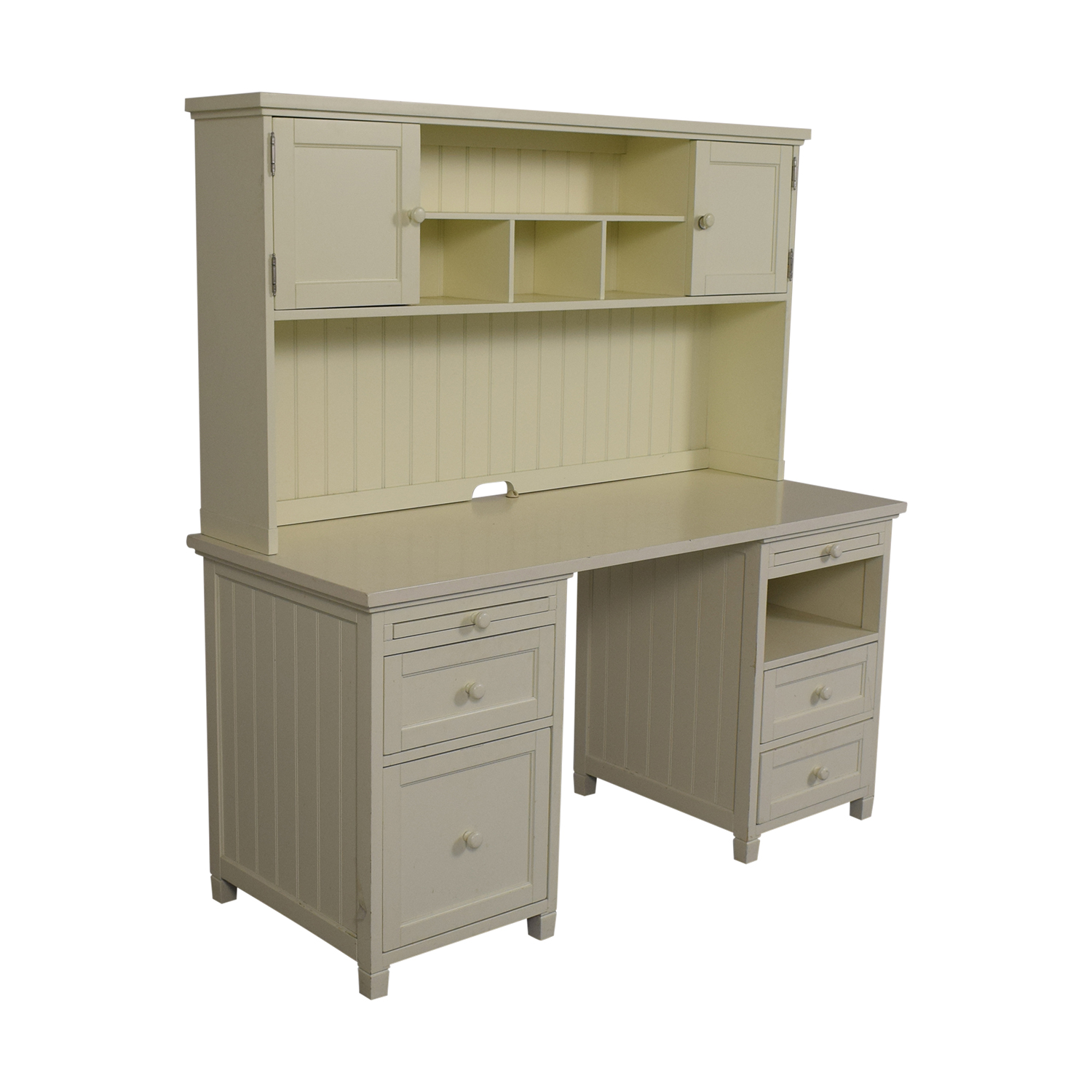 Pottery Barn Pottery Barn Teen White Four-Drawer Desk with Hutch coupon