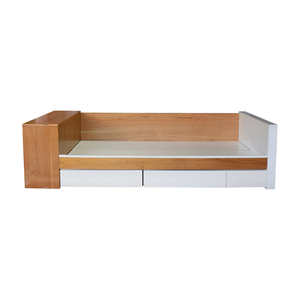 White & Brown Duet Twin Bed with Storage