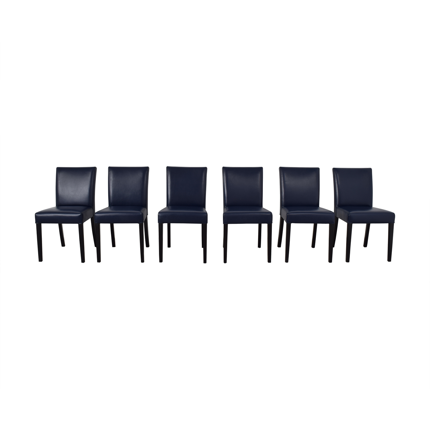 Crate & Barrel Crate & Barrel Lowe Dining Chairs navy blue