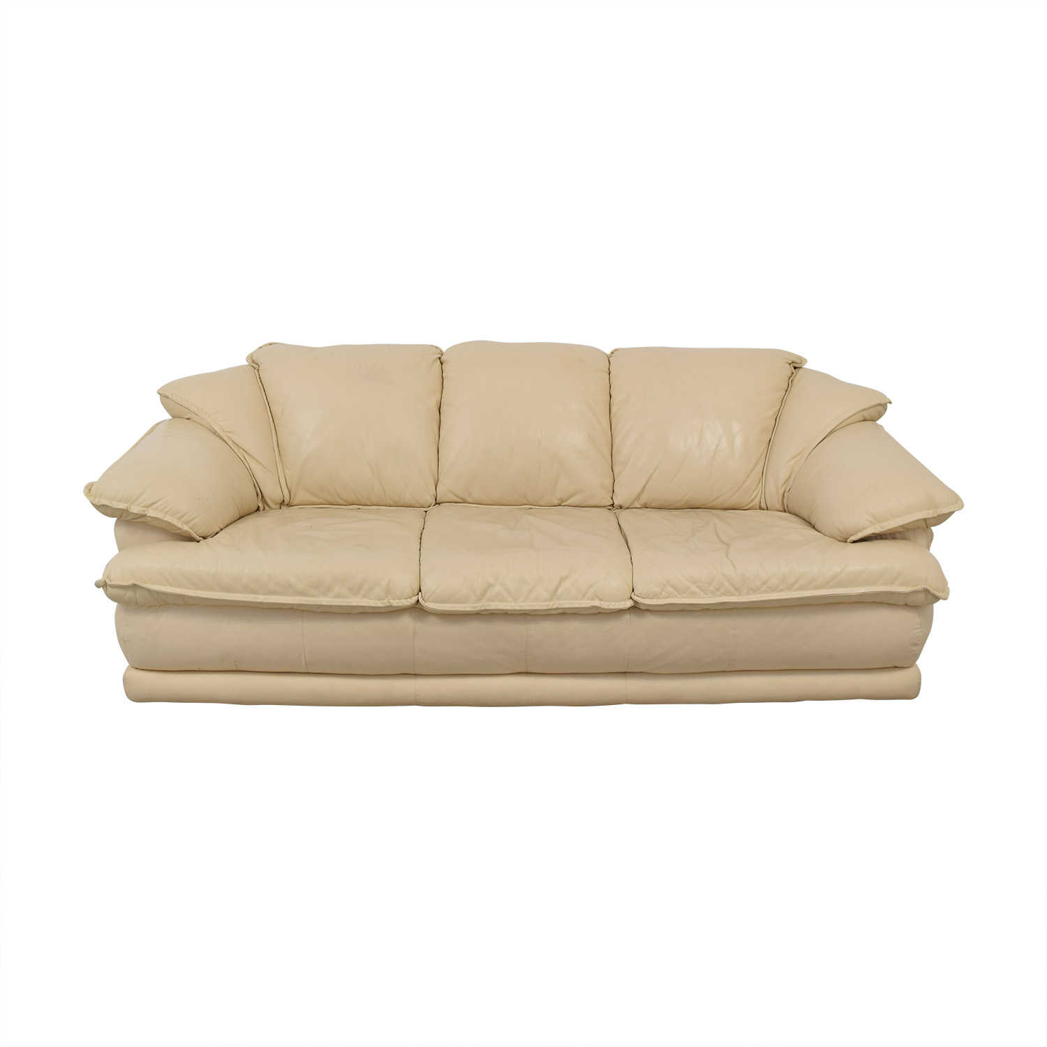 Three-Seater Beige Sofa for sale