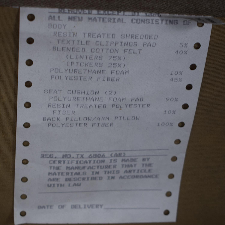 Macy's Macy's Beige Microfiber Two-Cushion Loveseat Sofas