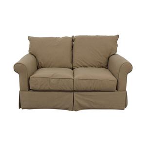 buy Macy's Macy's Beige Microfiber Two-Cushion Loveseat online