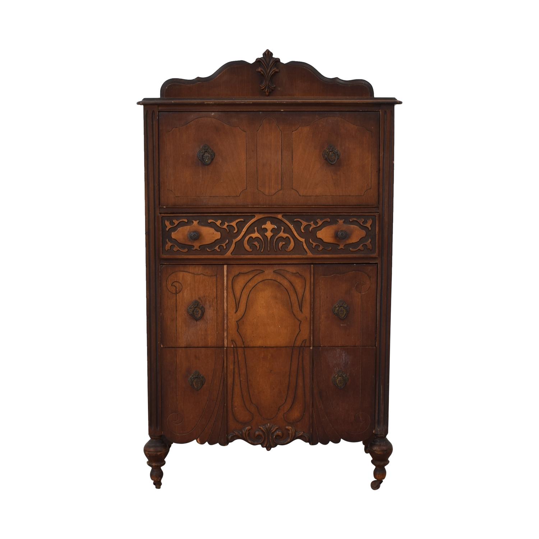 Antique Four-Drawer Tall Dresser discount