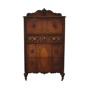 Antique Four-Drawer Tall Dresser on sale