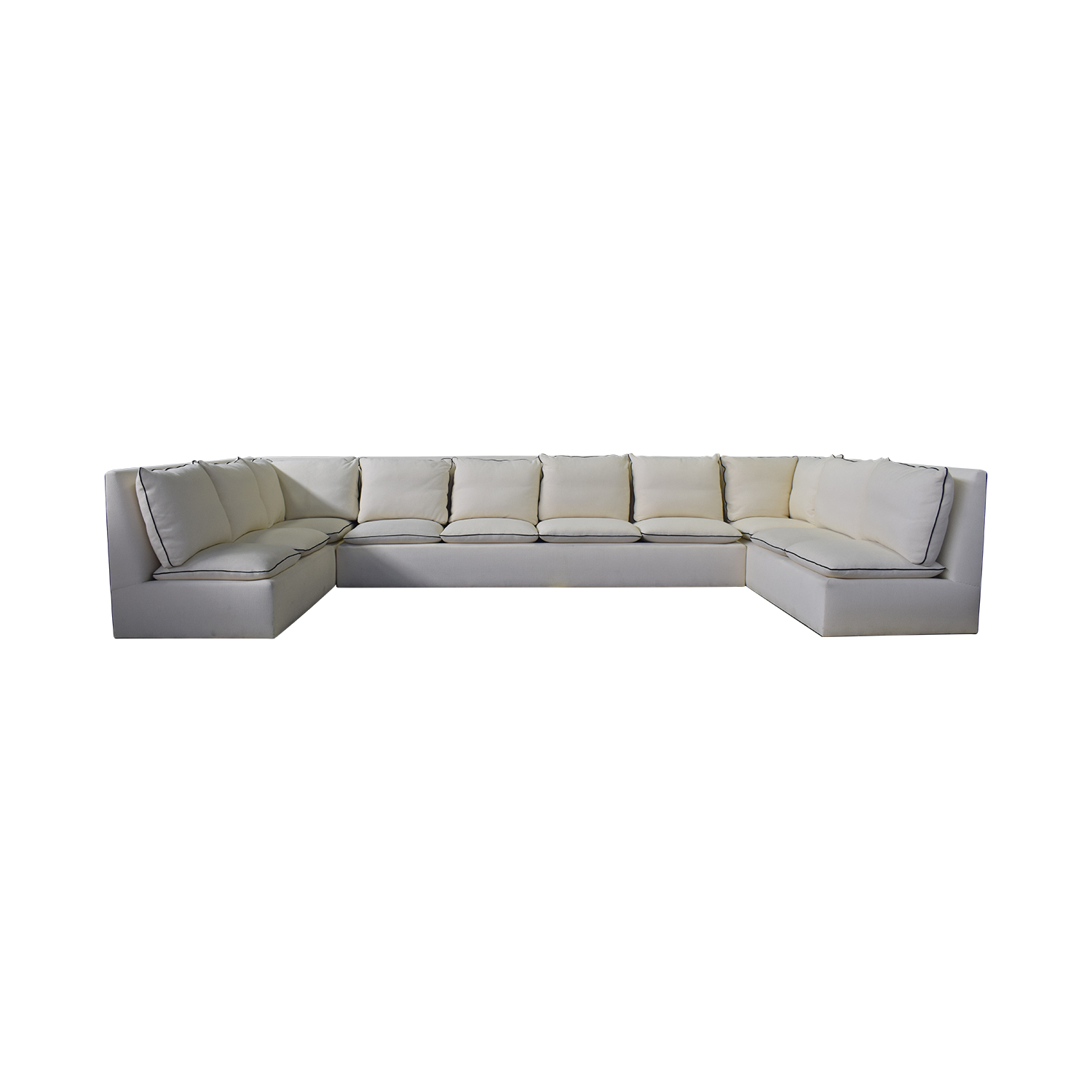 buy Custom White U-Shaped Sectional  Sectionals