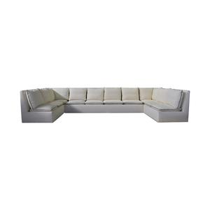 Custom White U-Shaped Sectional Sofas