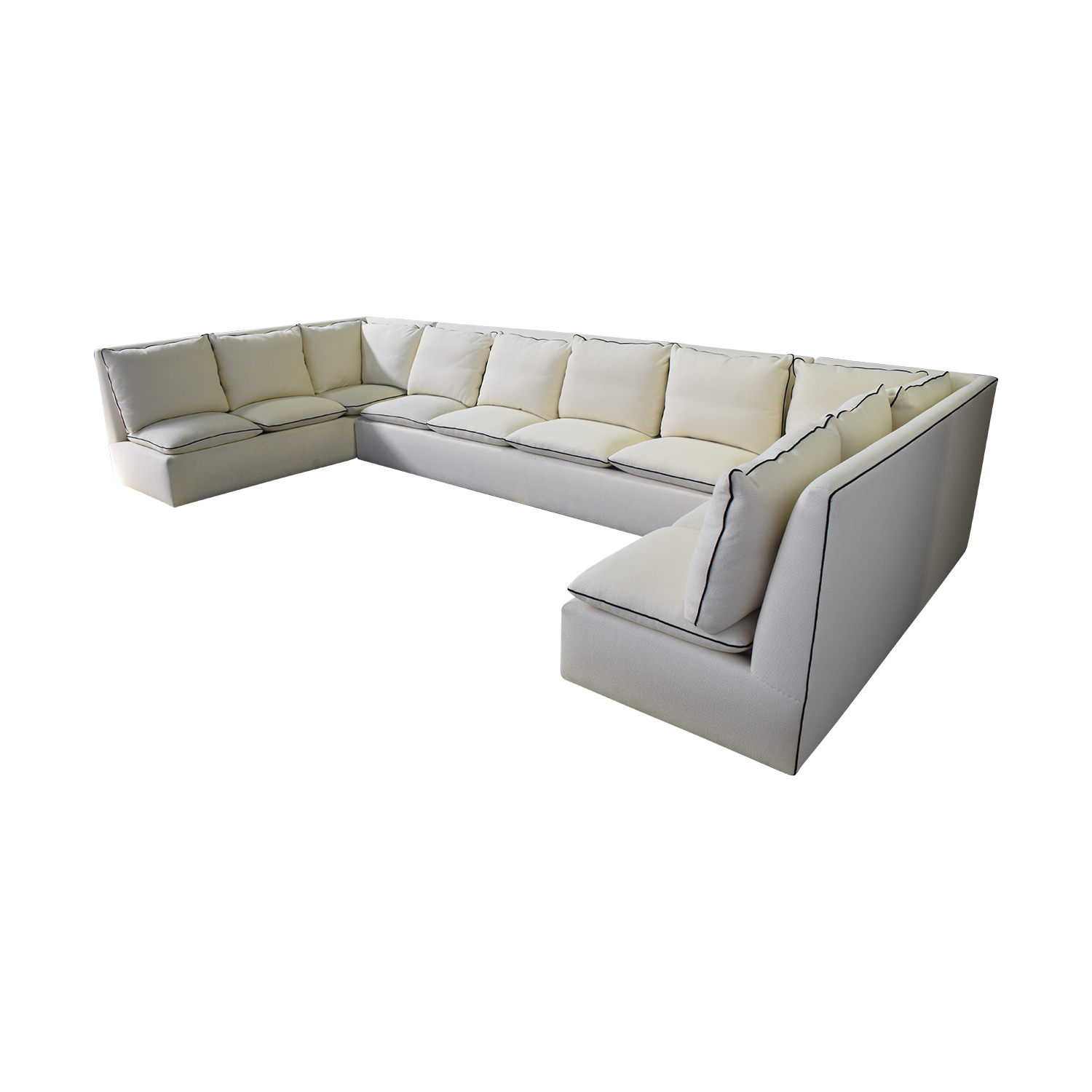 Custom White U-Shaped Sectional / Sectionals