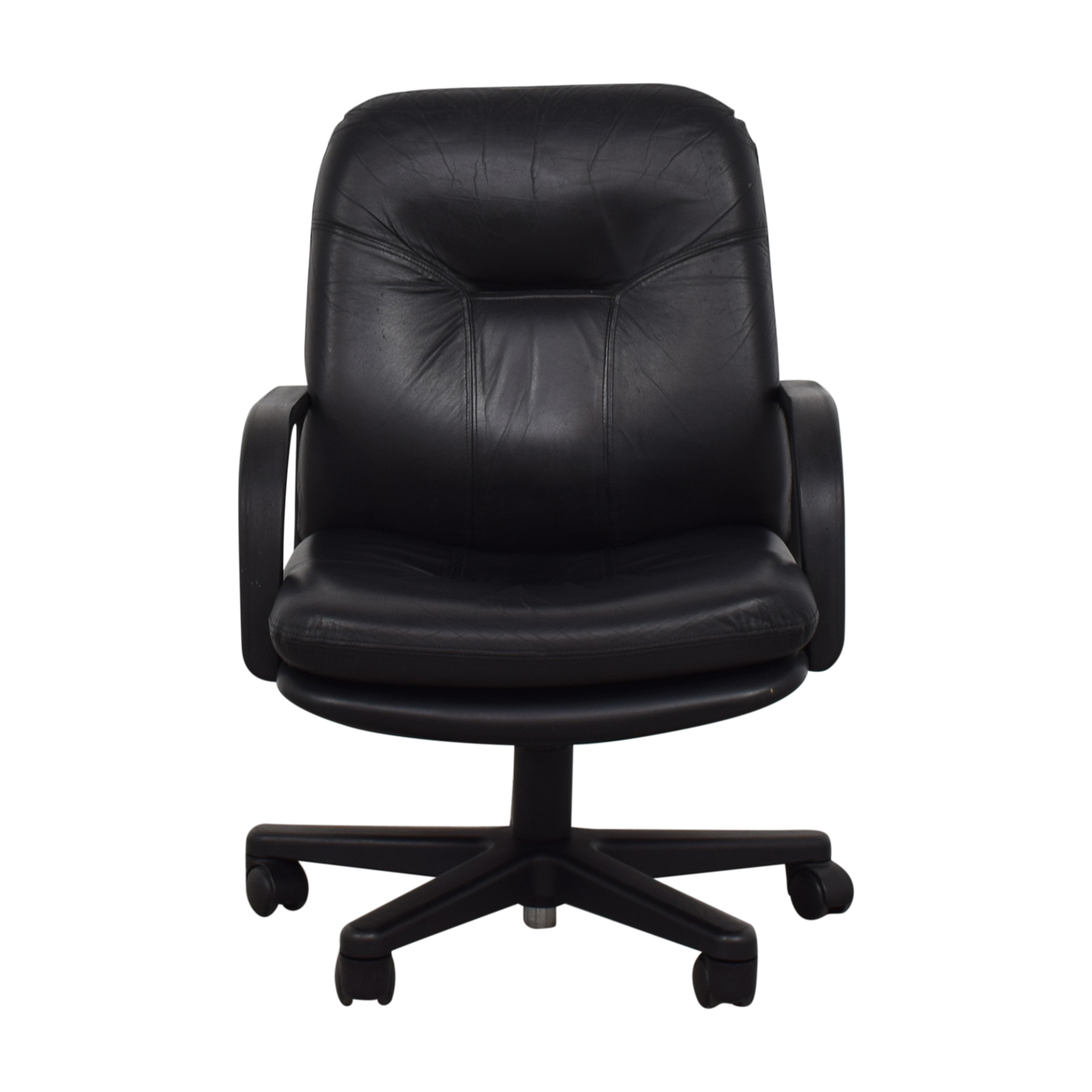 42b8be175de 87% OFF - Black Office Chair   Chairs