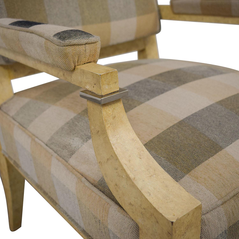 Kravet Kravet Plaid Upholstered Accent Chair