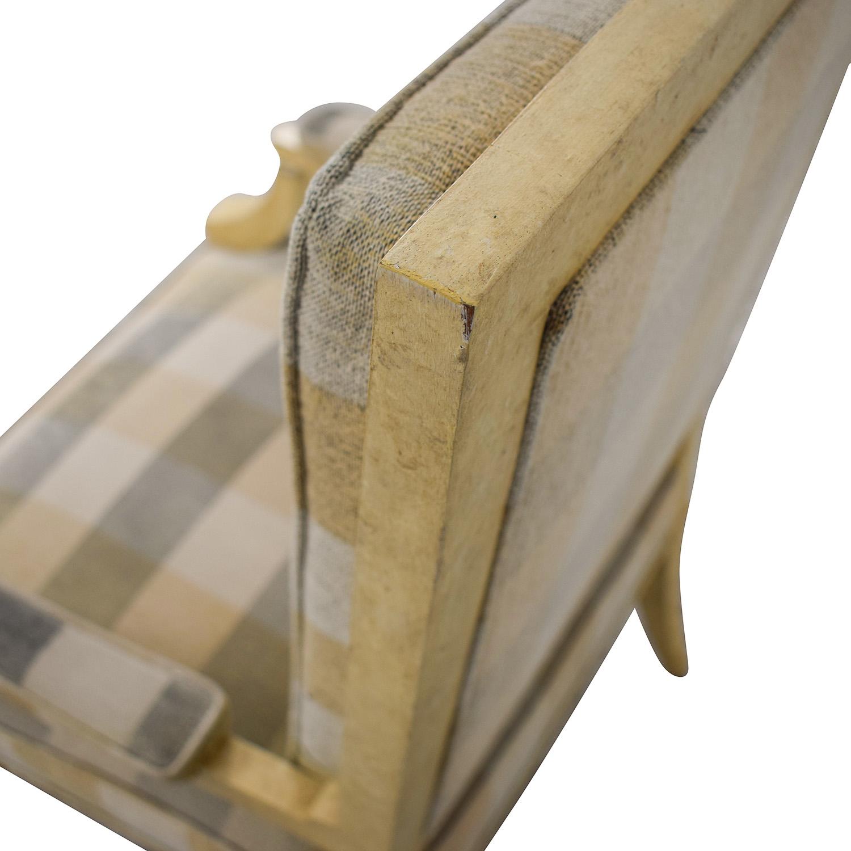 shop Kravet Plaid Upholstered Accent Chair Kravet Accent Chairs