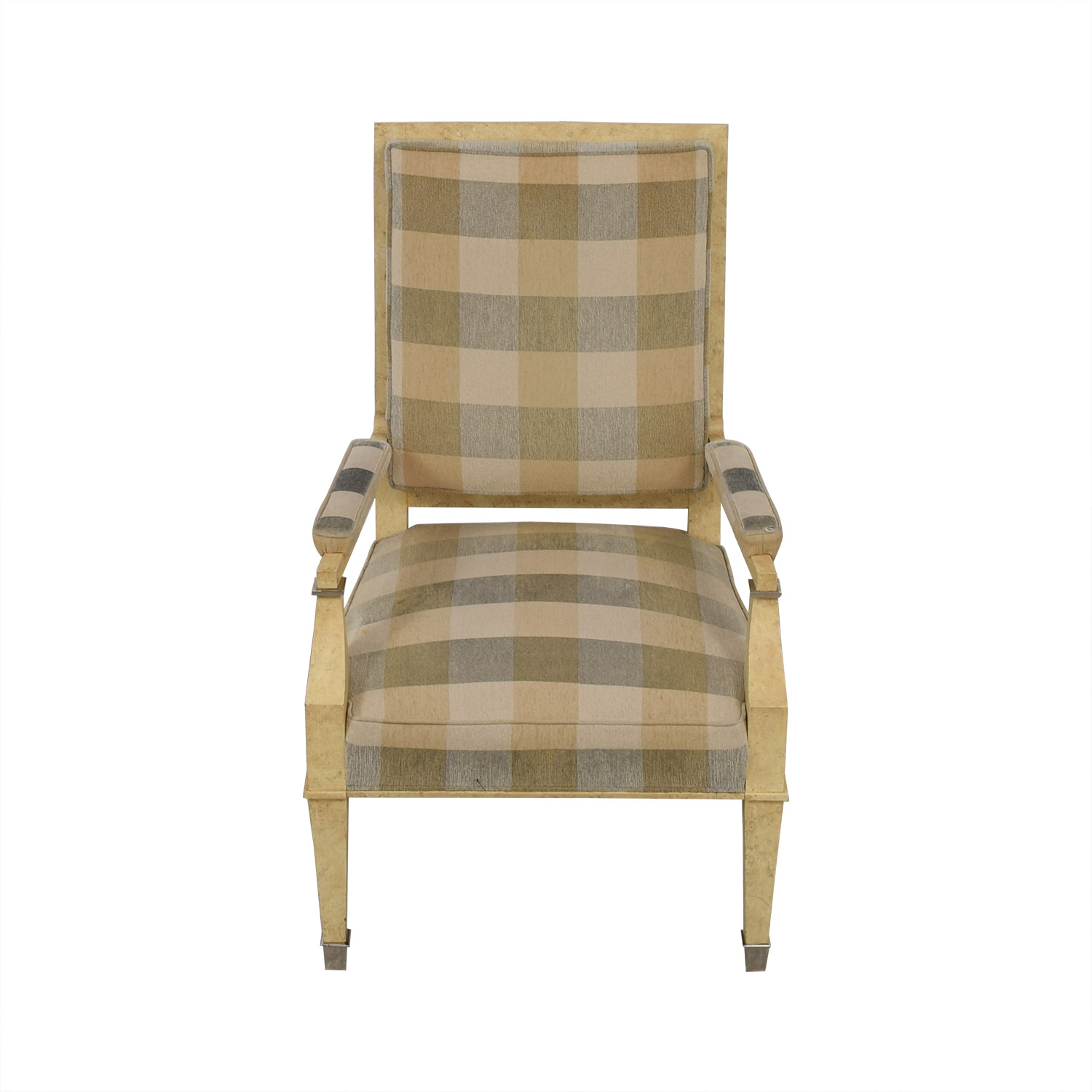 Kravet Plaid Upholstered Accent Chair Second Hand