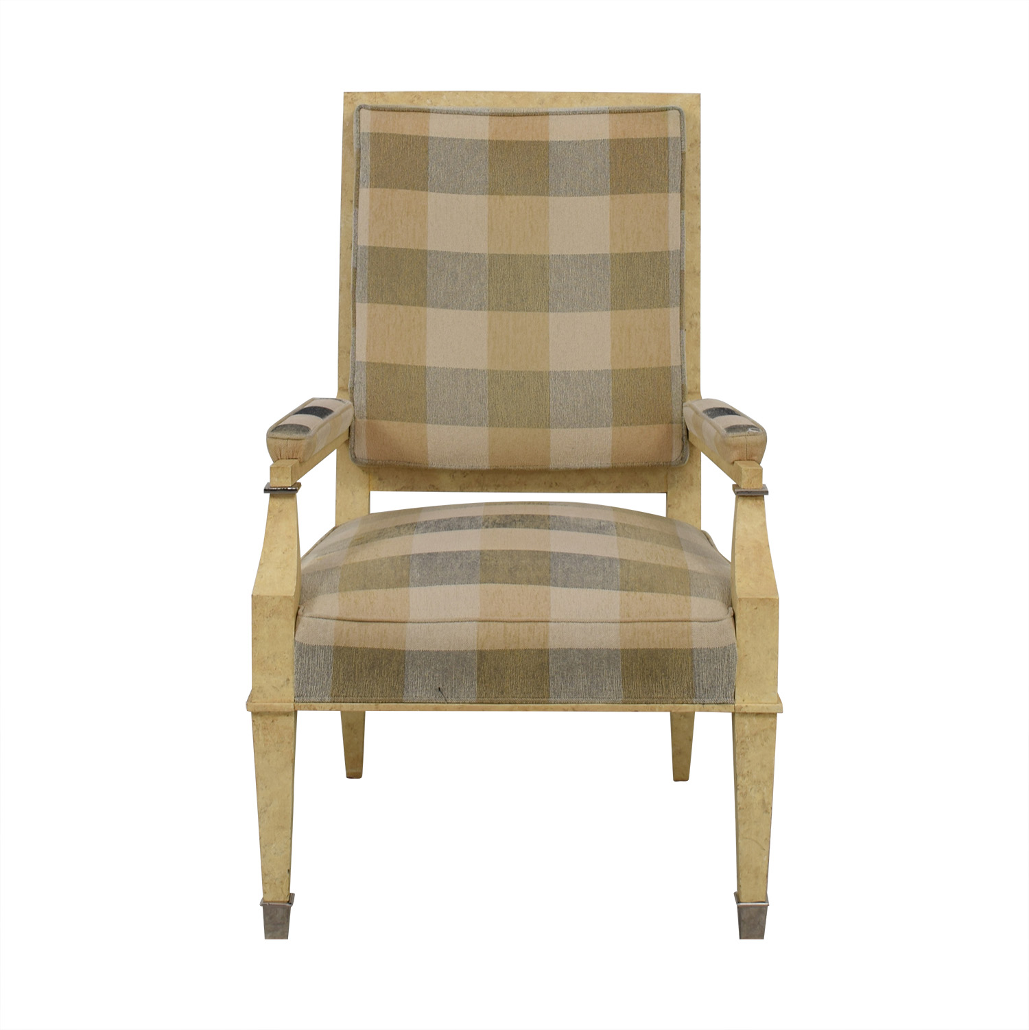 Kravet Kravet Plaid Upholstered Accent Chair discount