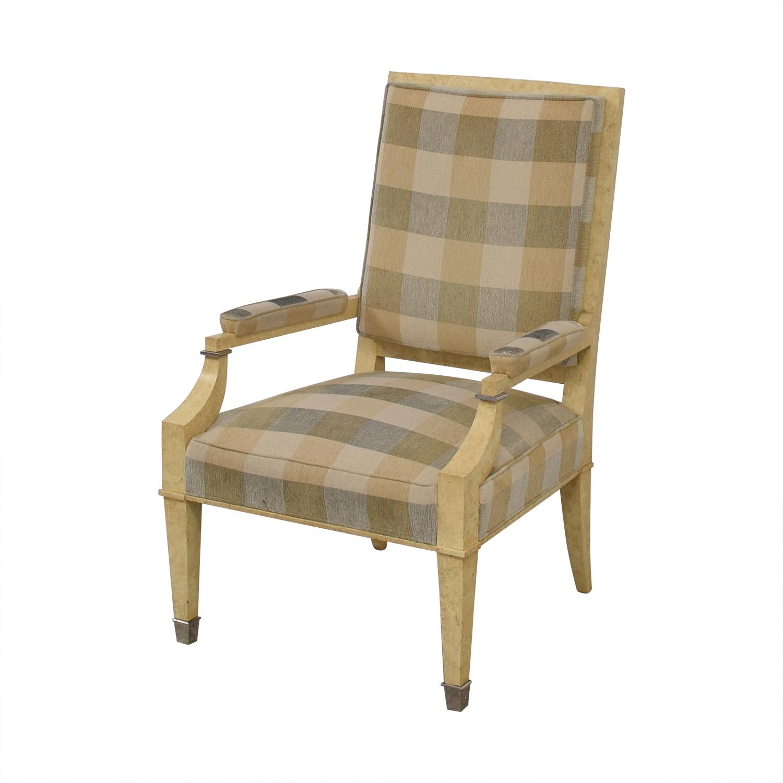 Kravet Kravet Plaid Upholstered Accent Chair second hand