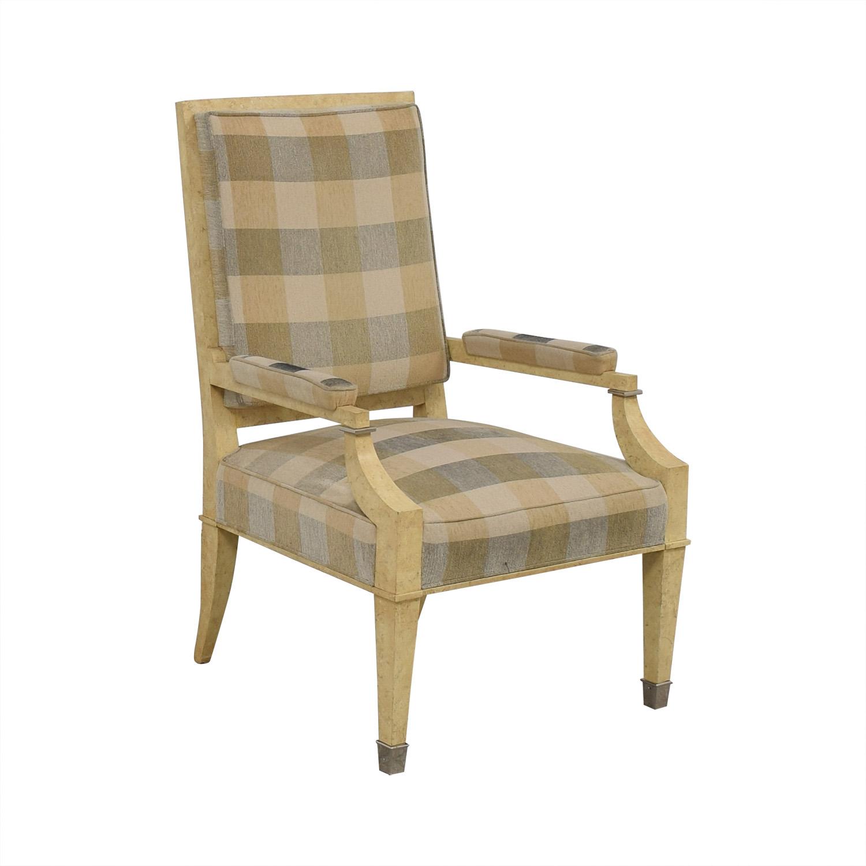 Kravet Plaid Upholstered Accent Chair Kravet