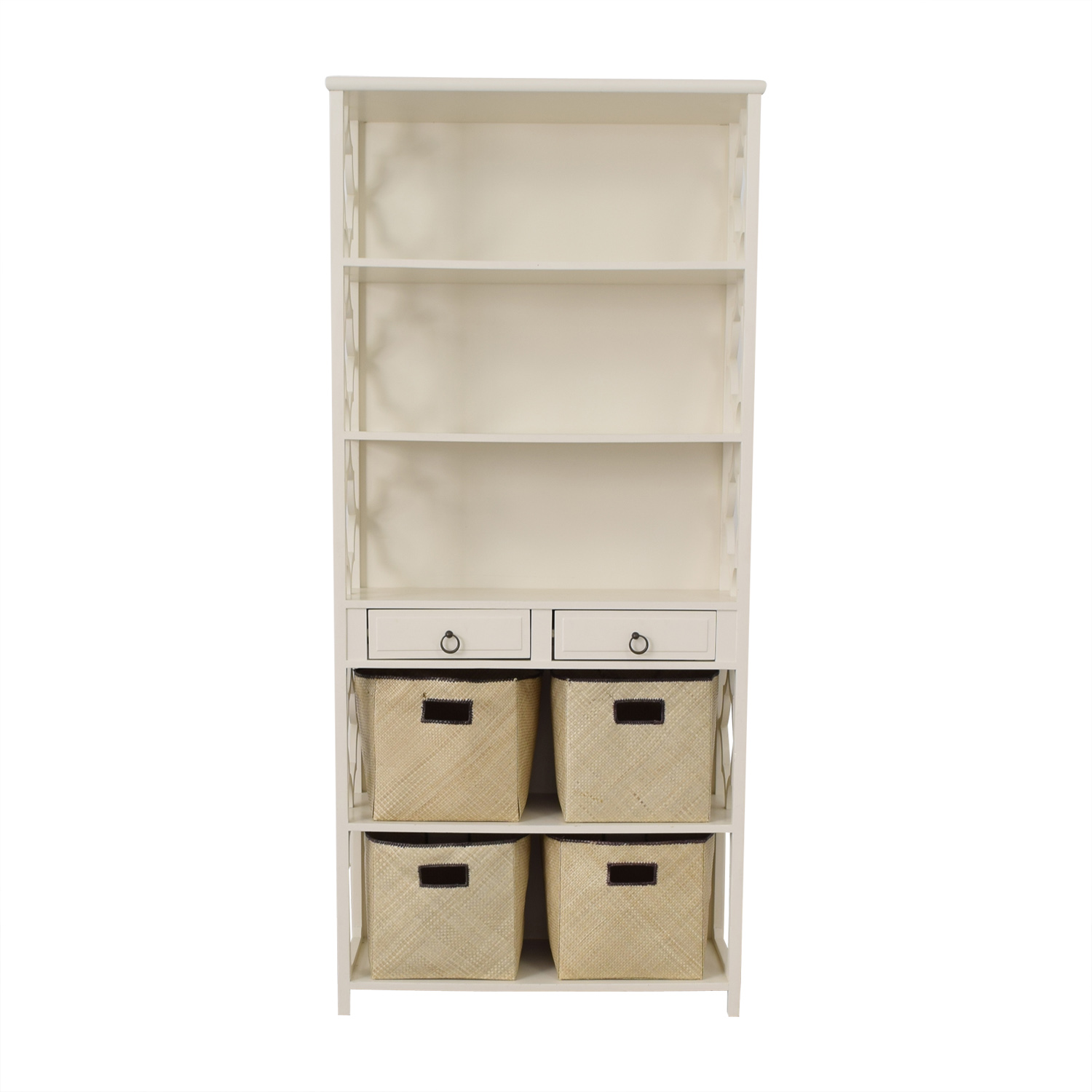 Pottery Barn Ava Regency Tall Bookcase Pottery Barn
