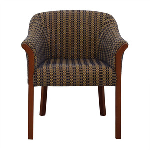 Blue and Gold Upholstered Accent Chair dimensions