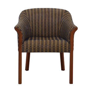 shop Blue and Gold Upholstered Accent Chair  Chairs