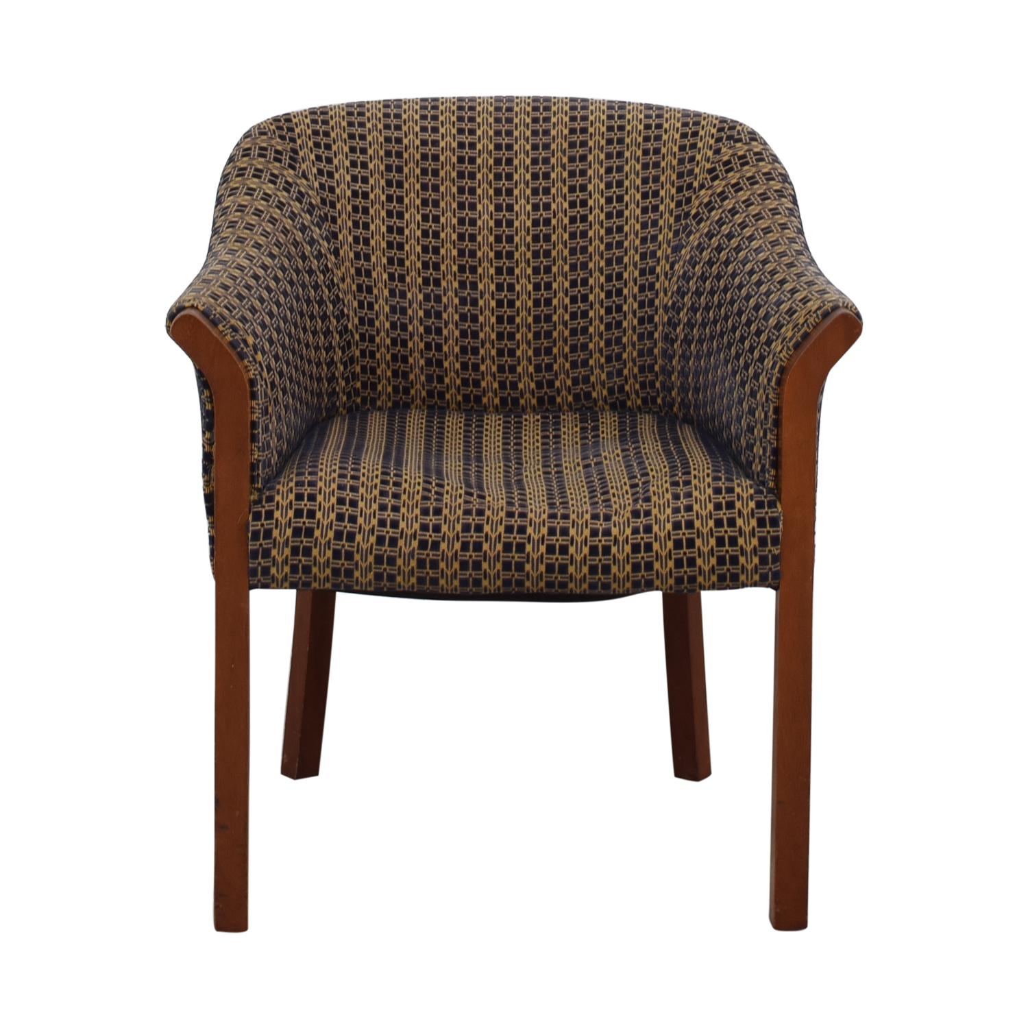 Blue and Gold Upholstered Accent Chair coupon