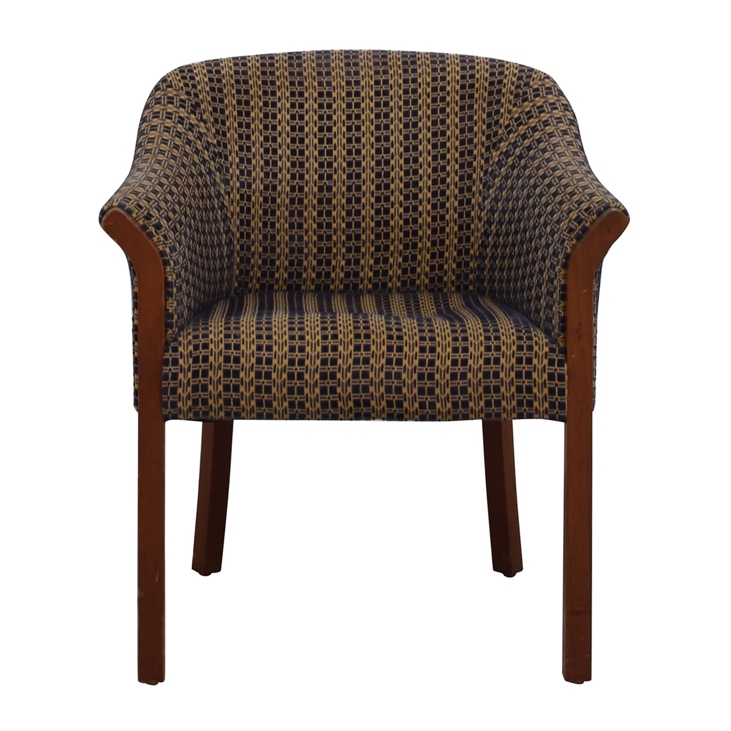 shop Blue and Gold Accent Chair